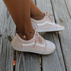 Worn Vans Pink Girl Sneaker Head Tennis Shoes 9